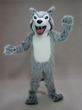 Fierce Husky Mascot Costume