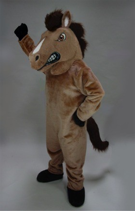 Fierce Mustang Mascot Costume