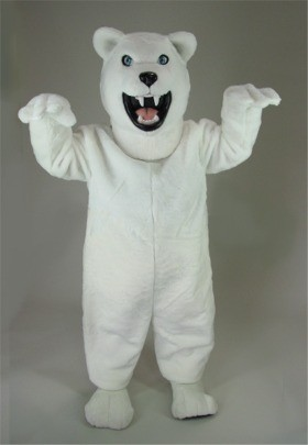 Fierce Polar Bear Mascot Costume