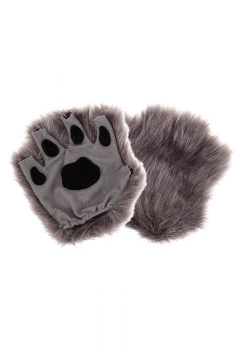 Fingerless Gray Paws