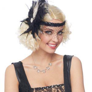 Flapper Headpiece w/ Birdcage Veil