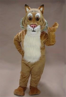 Friendly Bobcat Mascot Costume