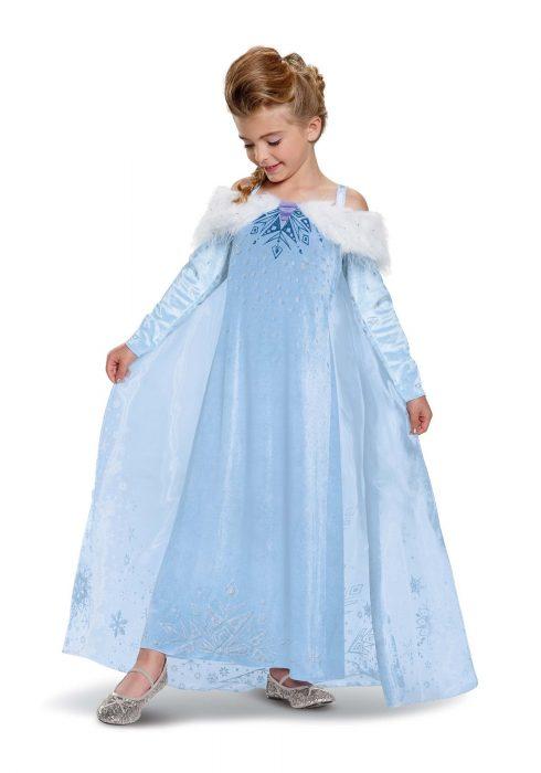 Frozen Elsa Adventure Dress Deluxe Girls Costume