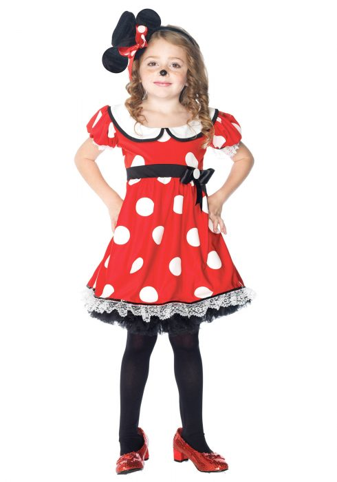 Girls Adorable Miss Mouse Costume
