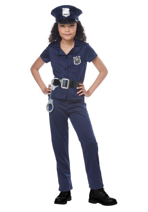 Girls Cool Cop Costume