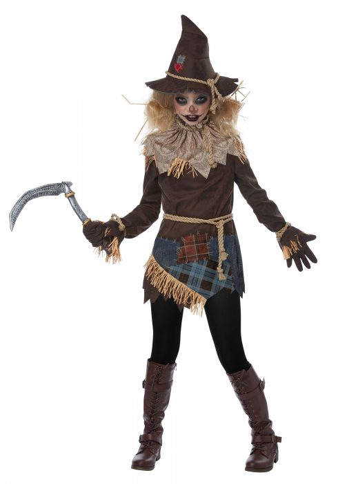 Girls Creepy Scarecrow Costume