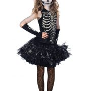 Girls Cutie Bones Skeleton Costume