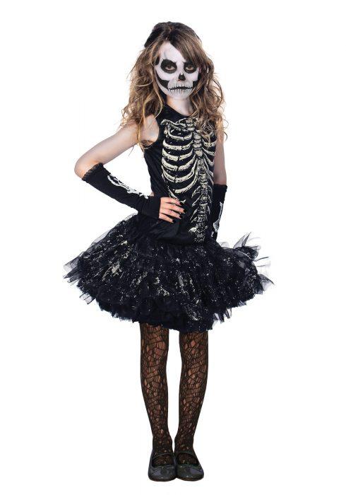 Girls Cutie Bones Skeleton Costume