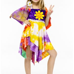 Girls Daisy Hippie Costume
