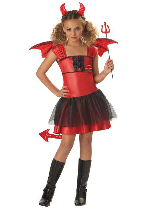 Girls Darling Devil Costume