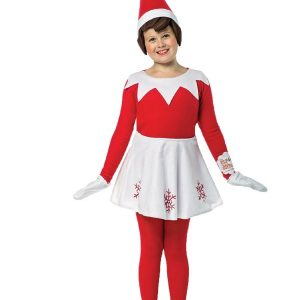 Girls Elf On the Shelf Dress 7-10