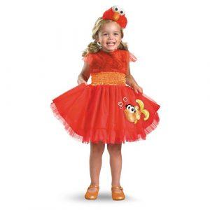 Girl's Elmo Costume