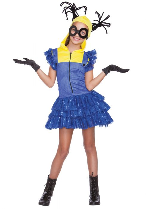 Girl's Evil Master Helper Costume