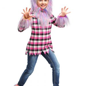 Girl's Fierce Rainbow Werewolf Costume