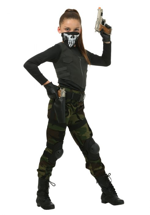 Girl's Fighting Soldier Costume
