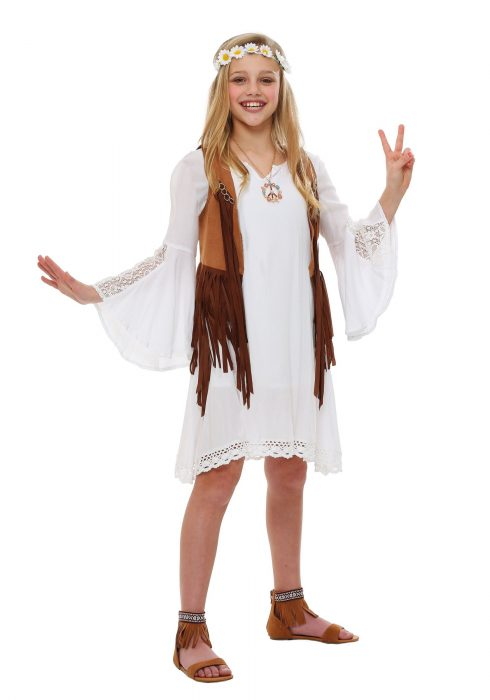 Girls Flower Child Costume