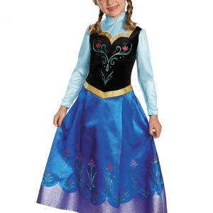 Girls Frozen Traveling Anna Prestige Costume