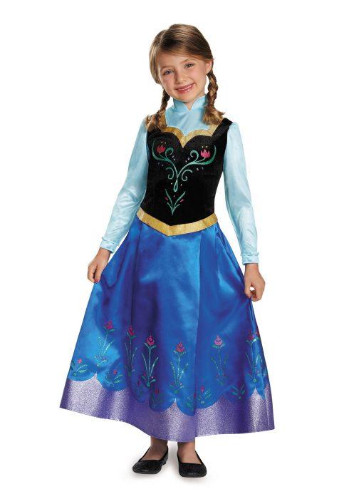 Girls Frozen Traveling Anna Prestige Costume