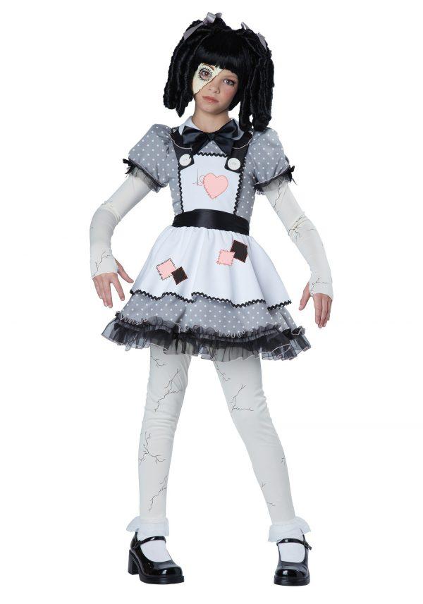 Girls Haunted Doll Costume