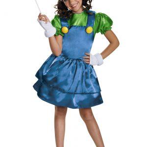 Girls Luigi Skirt Costume