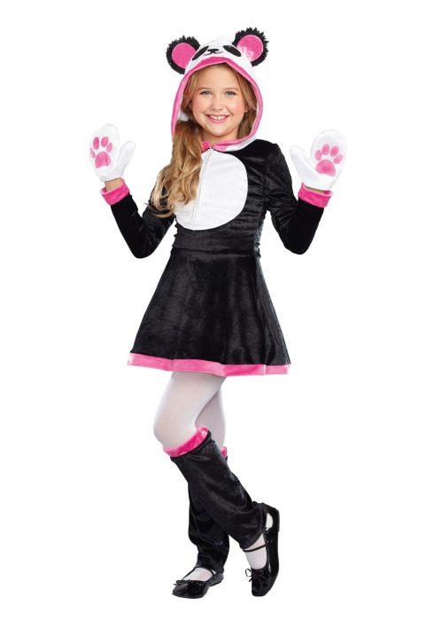 Girls Panda Cutie Costume