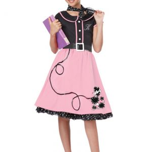 Girls Pink 50s Sweetheart Costume