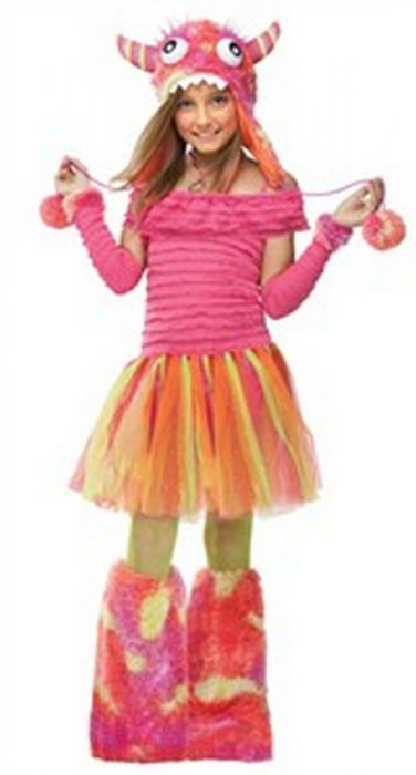 Girls Pink Monster Costume