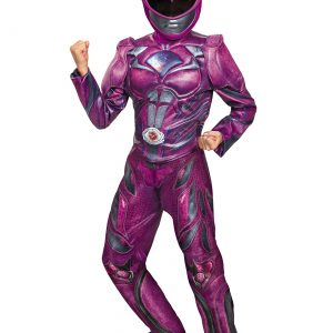 Girls Pink Ranger Movie Deluxe Costume