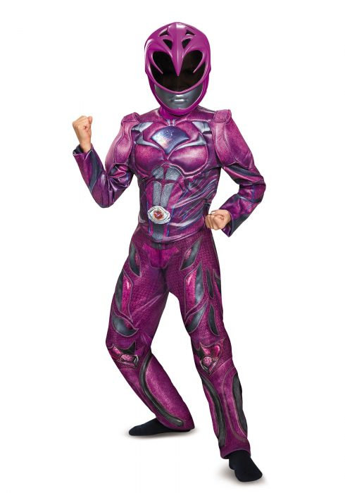 Girls Pink Ranger Movie Deluxe Costume