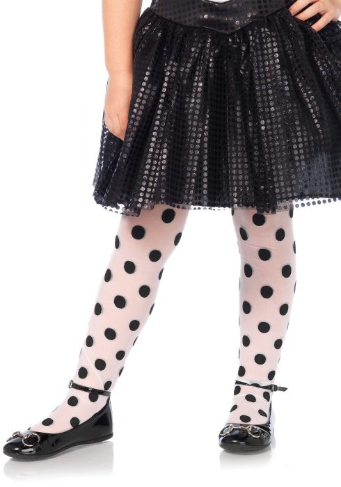 Girls Polka Dot Tights