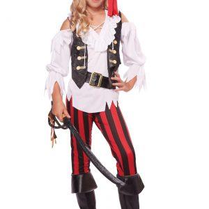 Girl's Posh Pirate Costume