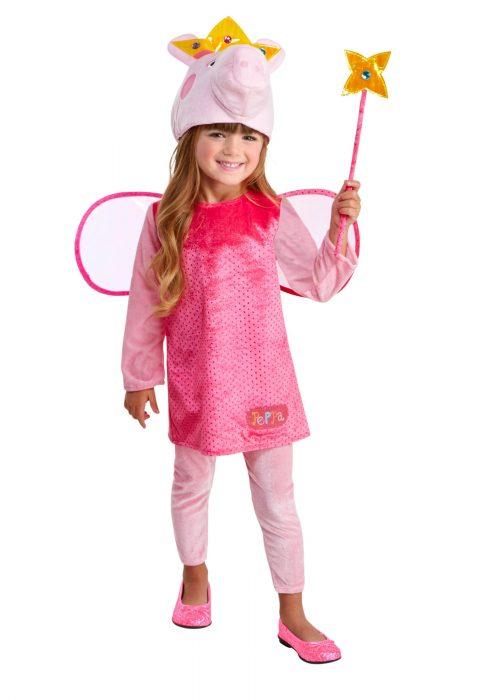 Girls Princess Peppa Pig Costume