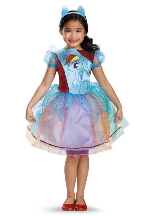Girls Rainbow Dash Deluxe Costume
