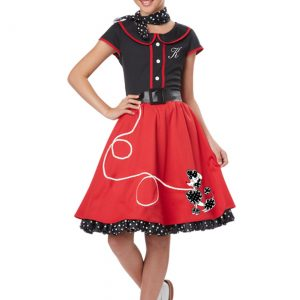 Girls Red 50s Sweetheart Costume