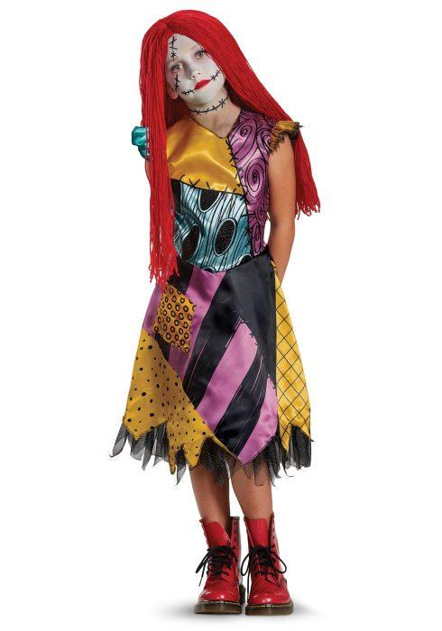 Girls Sally Deluxe Costume