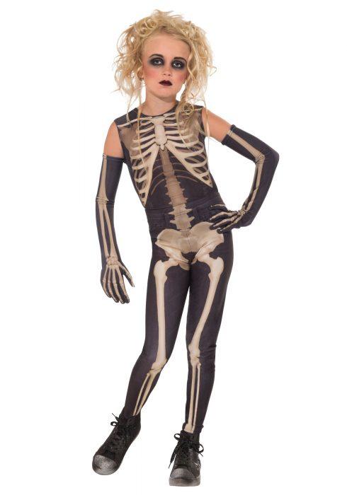 Girl's Skelee Girl Costume