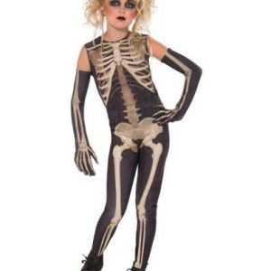 Girls Skeleton Costume - Skelee Girl