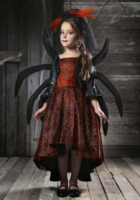 Girl's Spooky Widow Dress Costume