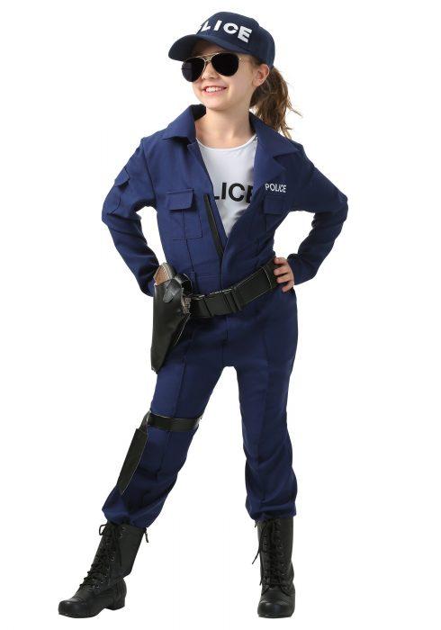 Girl's Tactical Cop Jumpsuit