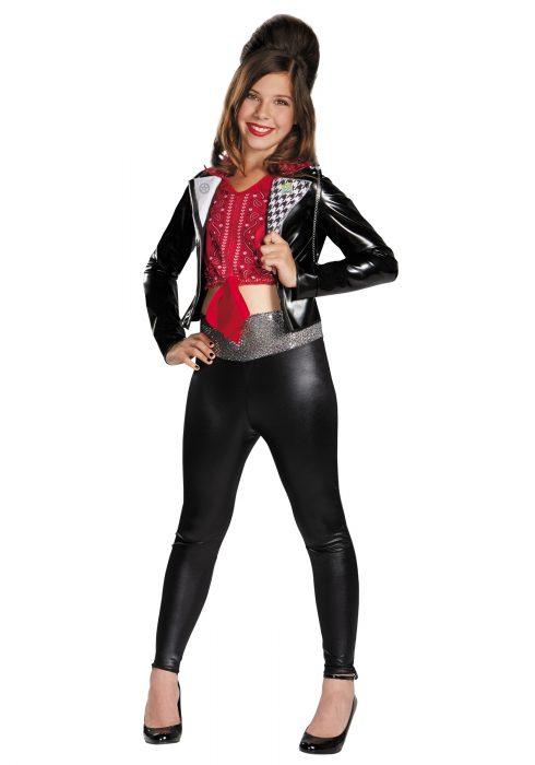Girls Teen Beach McKenzie Biker Deluxe Costume