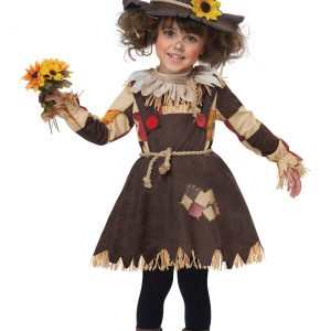 Girls Toddler Pumpkin Patch Scarecrow Costume