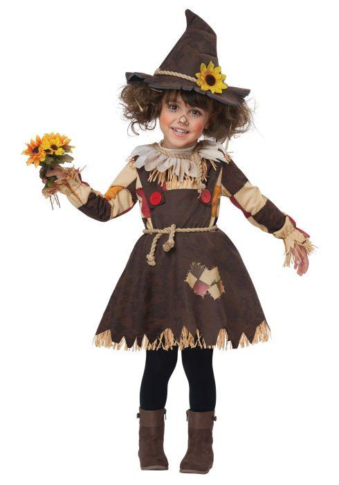 Girls Toddler Pumpkin Patch Scarecrow Costume
