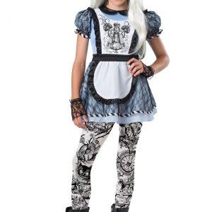 Girls Tween Dark Alice Costume
