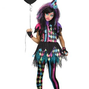 Girls Twisted Circus Clown Costume