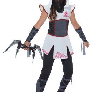 Girls White Ninja Costume