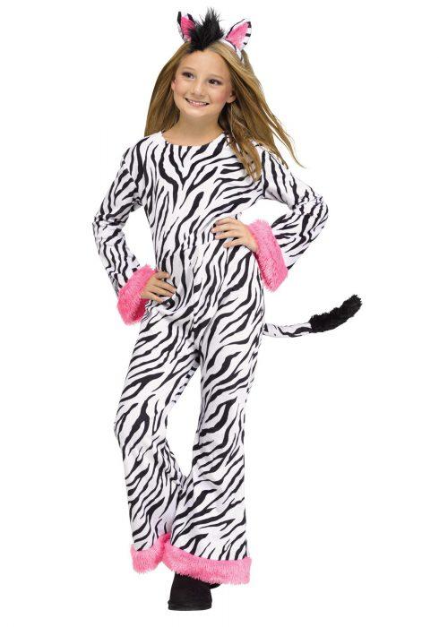 Girls Zebra Diva Costume