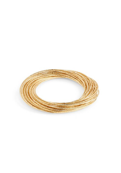 Gold Multi Mini Bangle Bracelet