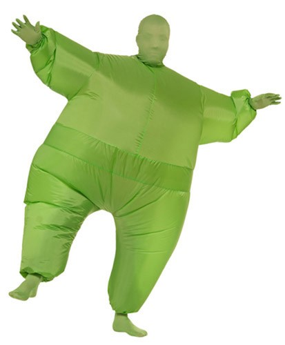 Green Inflatable Skin Suit Costume