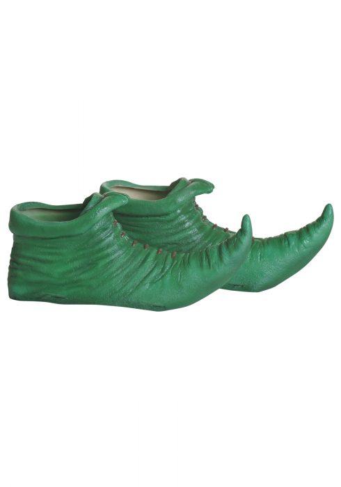 Green Munchkin Elf Shoe Covers