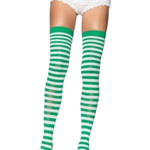 Green and White Nylon Stockings